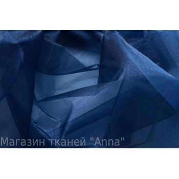 """Темно-синяя """"хрустящая"""" органза"""
