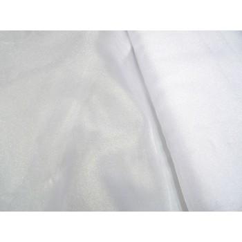 Белая блестящая мягкая органза