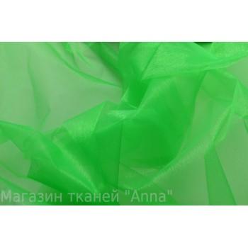 Ярко-зеленая органза с блеском