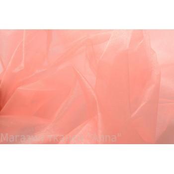 Органза розовая тонкая