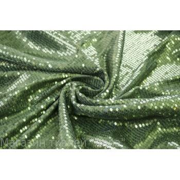 Гипюр-пайетки зеленые