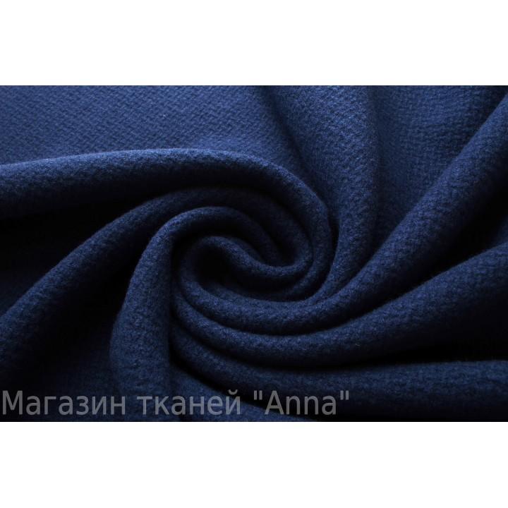 Темно синяя пальтовая шерсть с небольшой выделкой.