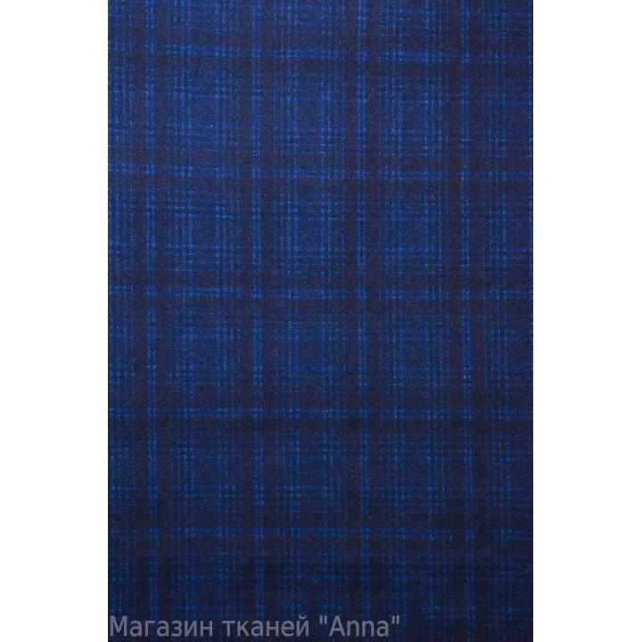 Мягкая пальтовая шерсть в ярко синем цвете
