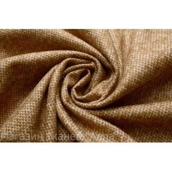 Тонкая пальтовая шерсть с эффектом мелкой клетки в светло-коричневом цвете