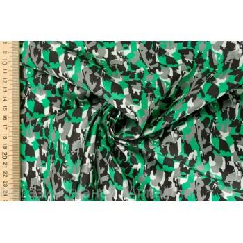 """Гладкая плащевая ткань с принтом """"милитари"""" в зеленых тонах"""