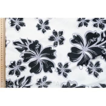 Плащевая ткань в черно-белой гамме