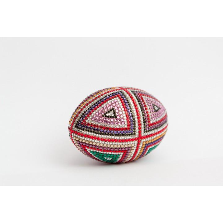 Декоративное яйцо, полностью инкрустированное кристаллами Swarovski