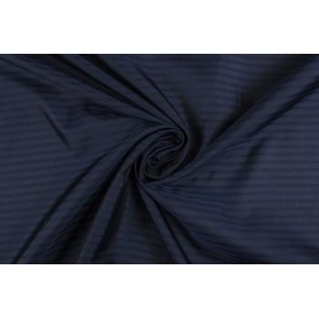 Вискозная подкладка темно-синего цвета в полоску