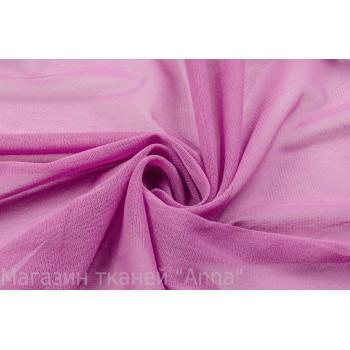 Мягкая сетка-стрейч в лиловом цвете