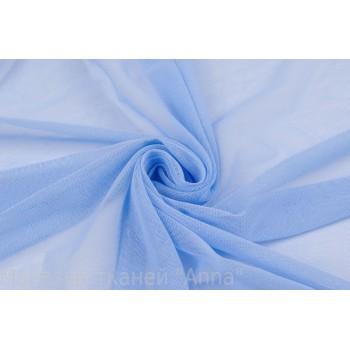 Голубая подкладочная сетка-стрейч