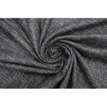 Мягкая костюмно плательная Шанель черного цвета в белую клетку