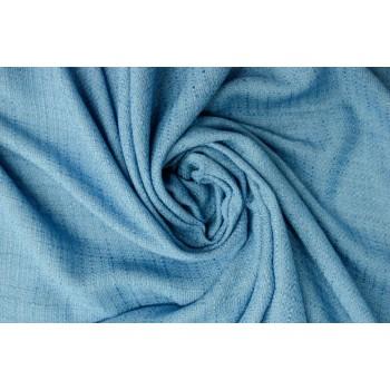 Шанель хлопок + лен небесного голубого цвета
