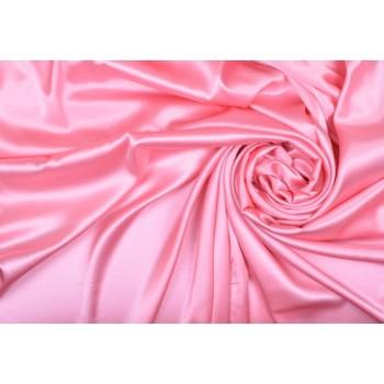 Шелк атласный классического розового оттенка