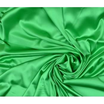 Шелковый атлас-стрейч насыщенного зеленого цвета