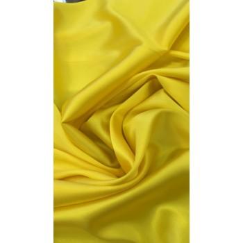 Желтый атласный шелк с эластаном