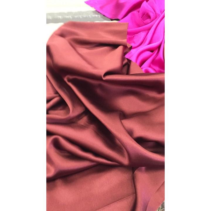 Бордово-коричневый шелковый атлас