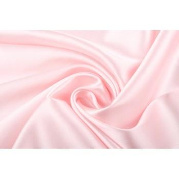 Нежно розовый атласный шелк-стрейч