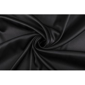 Классический черный атласный шелк с эластаном