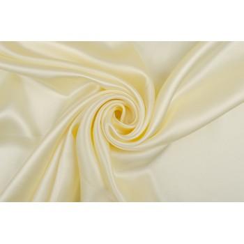 Легкий атласный шелк красивого сливочного оттенка