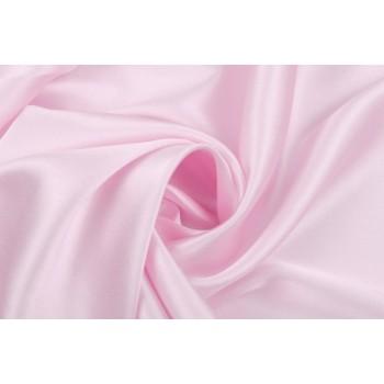 Светло-розовый атласный шелк-стрейч