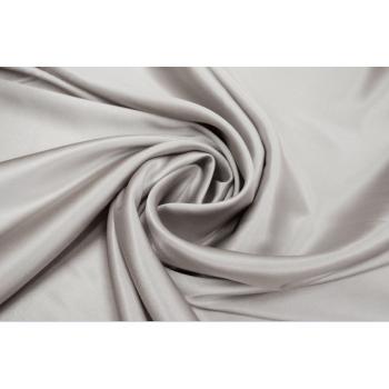 Шелковый атлас стрейч теплого светло серого оттенка
