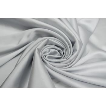 Шелковый атлас стрейч холодного светло серого оттенка