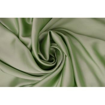Бледно-салатовый атласный шелк с эластаном
