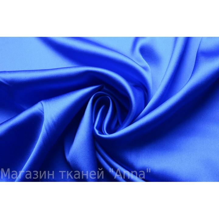 Королевский синий атласный шелк