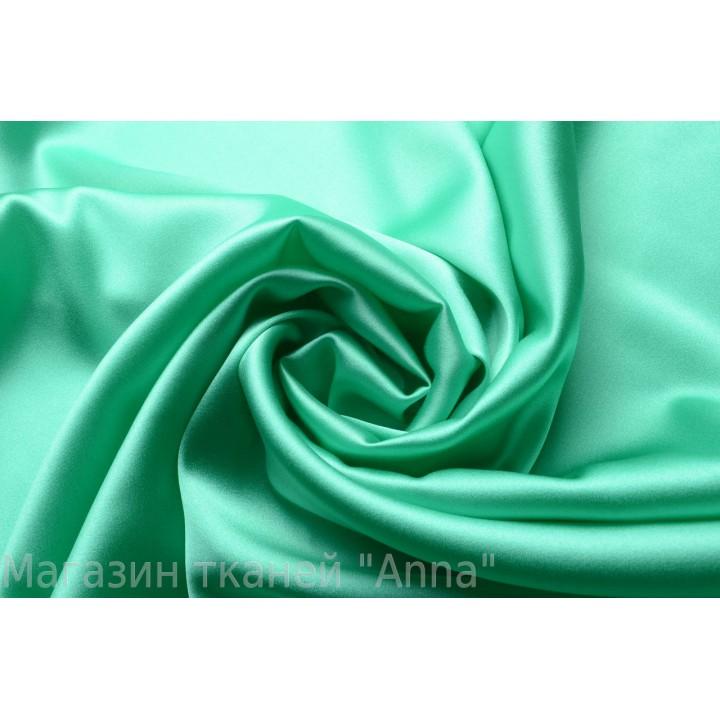 Шелковый атласный шелк цвета аквамарин