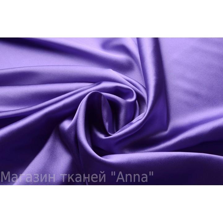 Фиолетовый атласный шелк с эластаном