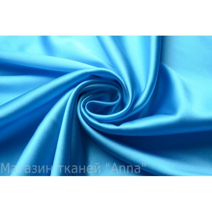 Ярко-голубой атласный шелк