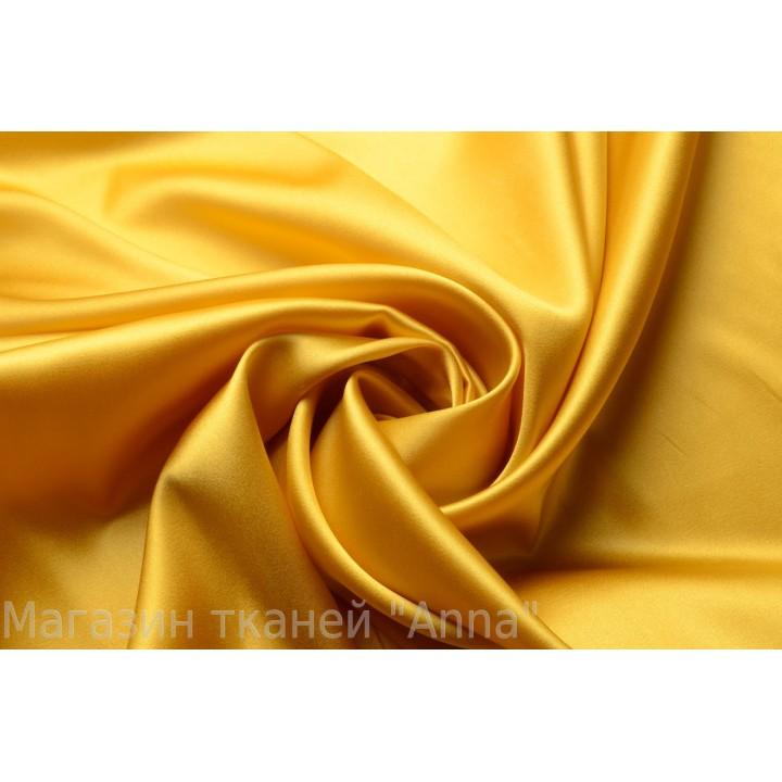 Шелковый атлас цвета золото