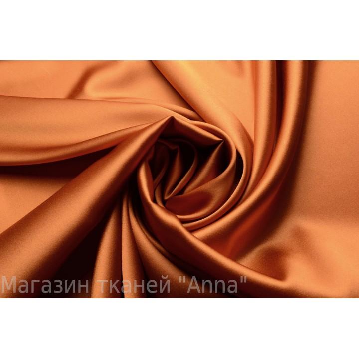 Шелковый атлас терракотового цвета