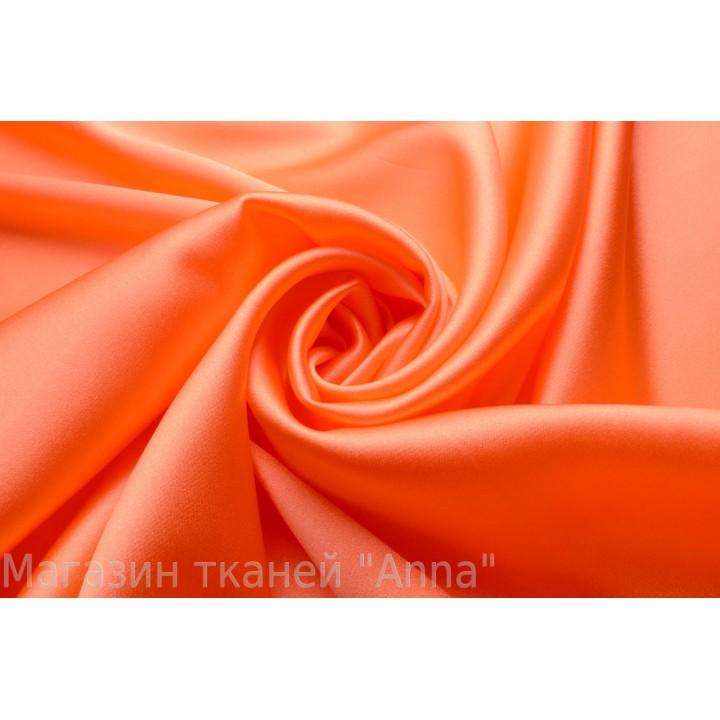Яркий оранжевый шелковый атлас для одежды