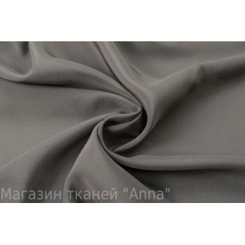 Крепдешин шелковый теплого серого цвета