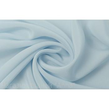 Светлый голубой шелковый креп