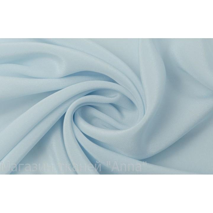 Светло-голубой шелковый креп