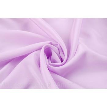 Крепдешин из шелка светлого фиолетового оттенка