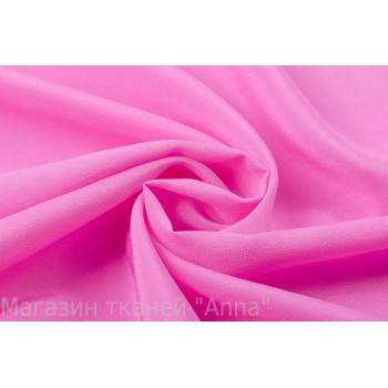 Крепдешин из натурального шелка неонового розового оттенка