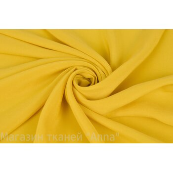 Крепдешин солнечного желтого оттенка