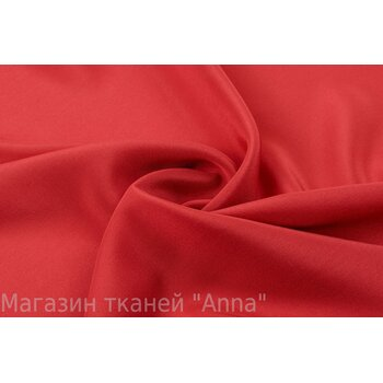 Крепдешин шелковый теплого красного цвета