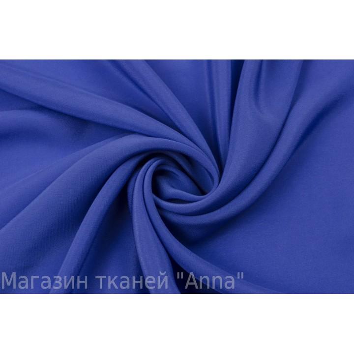 Шелковый крепдешин ярко-синего оттенка