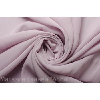 Шелковый шифон креп пастельного оттенка пепельной розы