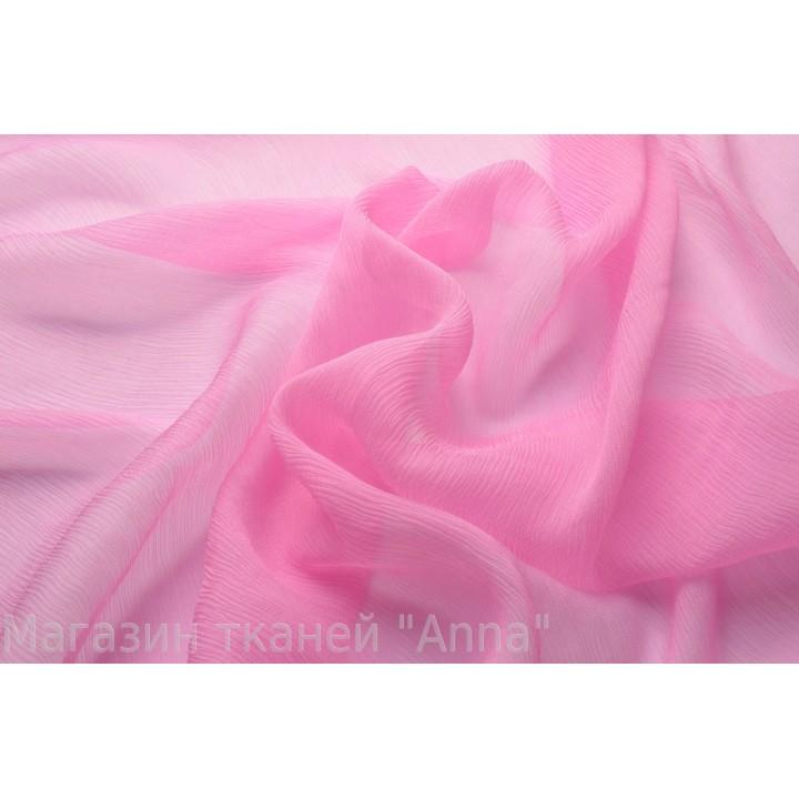 Креш шифон нежного розового цвета