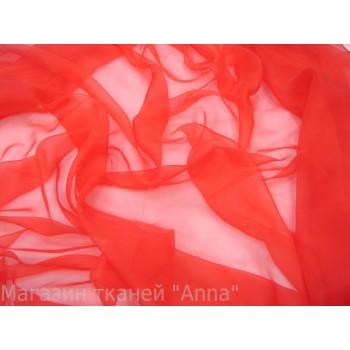 Ярко красный шелковый шифон