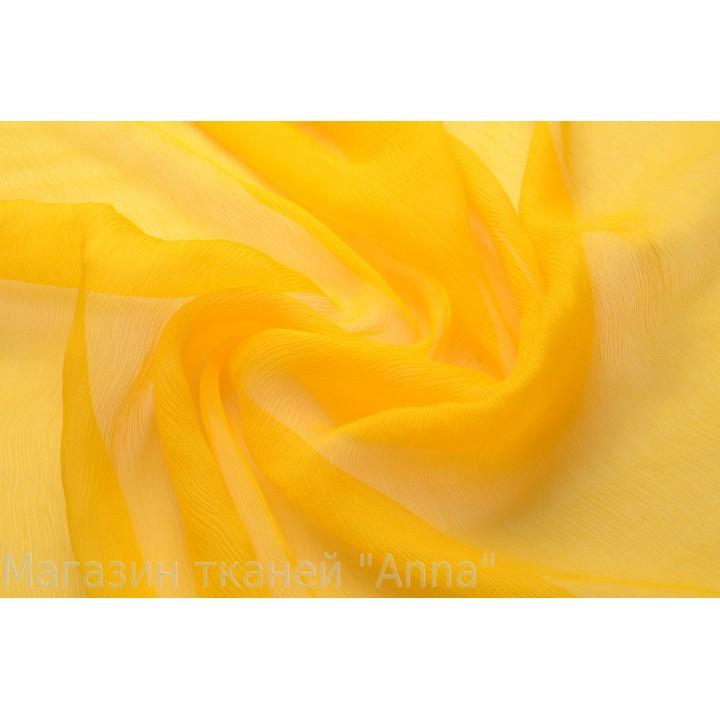 Креш шифон желтого солнечного цвета