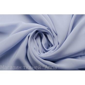 Шифон крепового плетения голубого оттенка