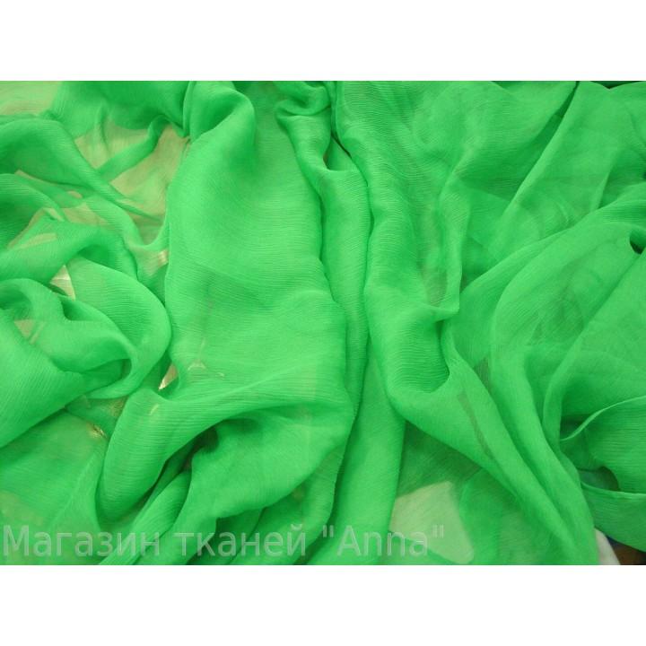 Яркий зеленый шифон креш