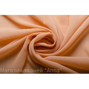 Шелковый шифон креп насыщенного персикового цвета