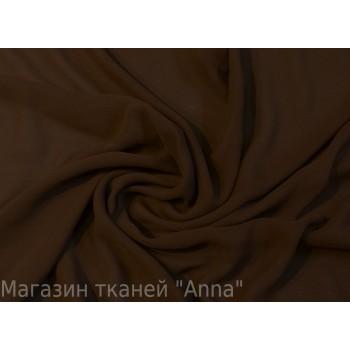 Темно коричневый шифон креп